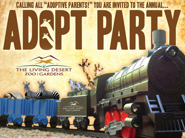 The Living Desert Annual Adopt Party Invitation
