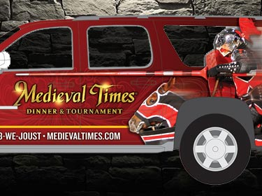Medieval Times Vehicle Wrap