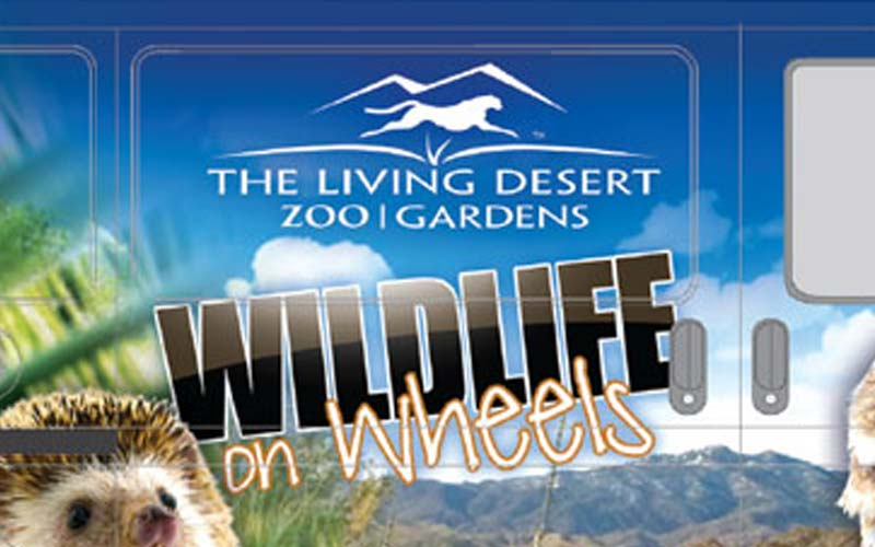 The Living Desert Wildlife on Wheels Van Wrap