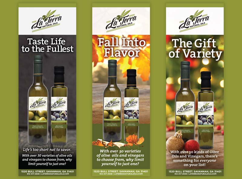 La Terra Natural Oils Print Advertising Campaign Design