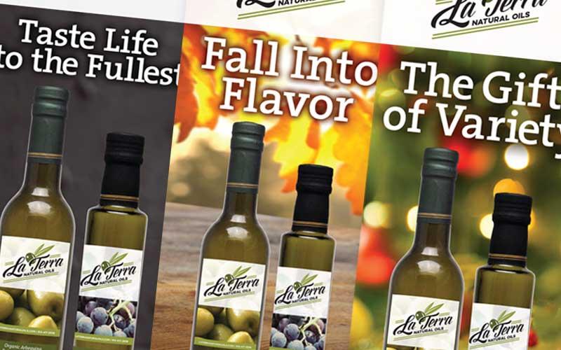 La Terra Natural Oils Print Ad Campaign
