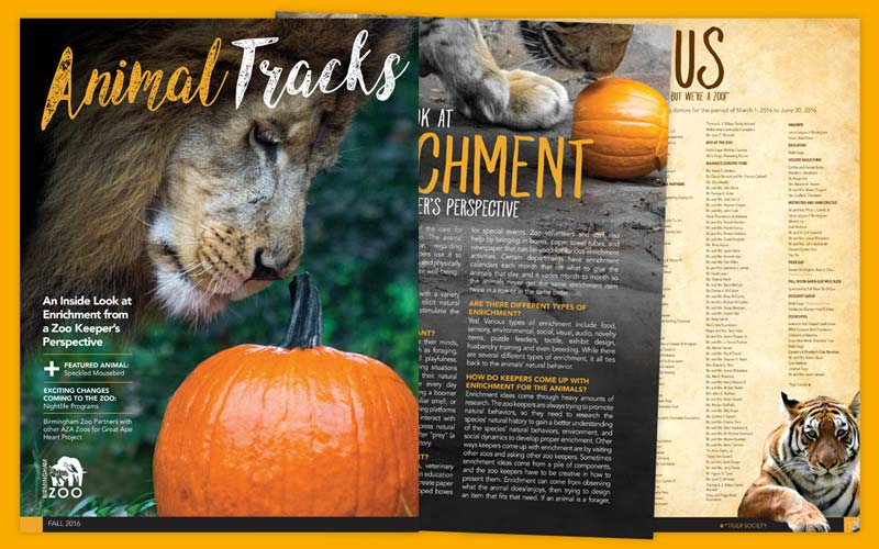 Birmingham Zoo Animal Tracks Magazine