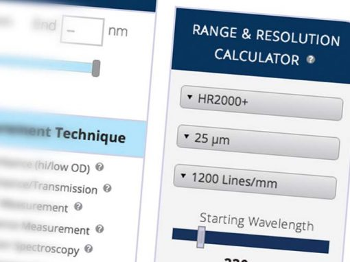 Ocean Optics Range and Resolution Calculator