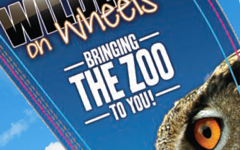 The Living Desert Wildlife on Wheels WOW Popup Banner